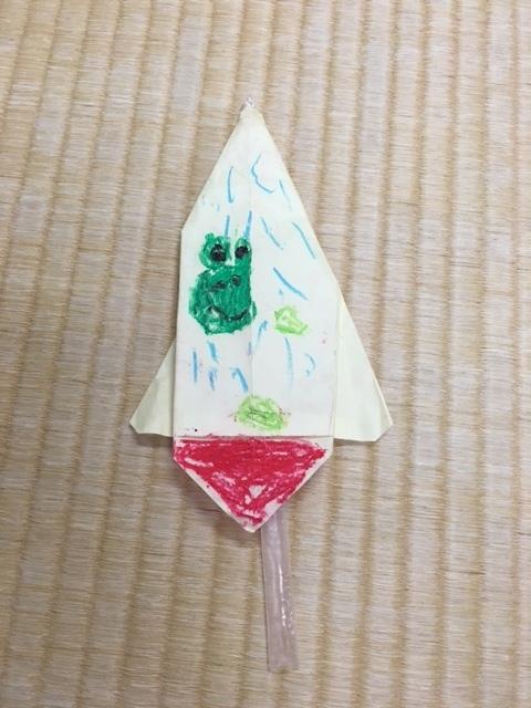 クリスマス 折り紙:折り紙 ロケット-piyopiyo758.seesaa.net